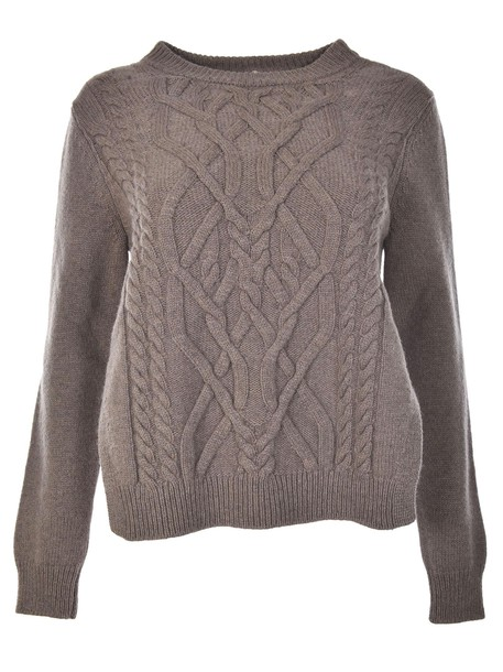 Erika Cavallini sweater knitted sweater taupe