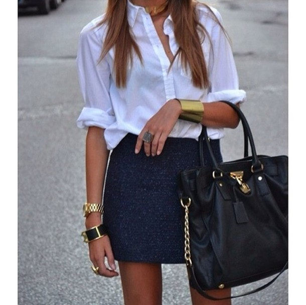 Dark Blue Denim Mini Skirt