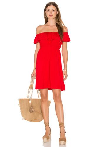 dress open red