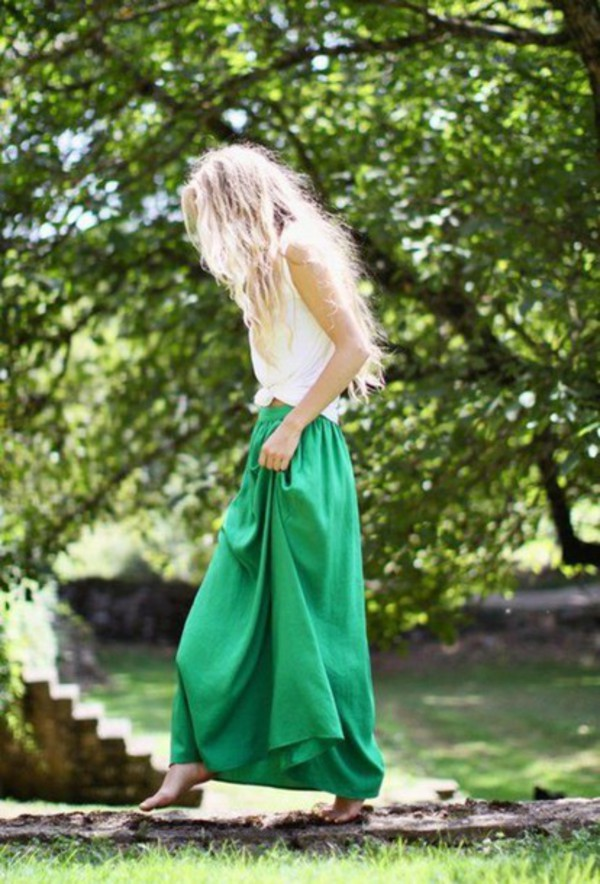skirt maxi maxi skirt green skirt girl dress green green skirt emerald green