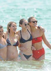 swimwear,gigi hadid,karlie kloss,blake lively,summer,summer outfits,bikini top,bikini bottoms,bikini,beach,bandeau