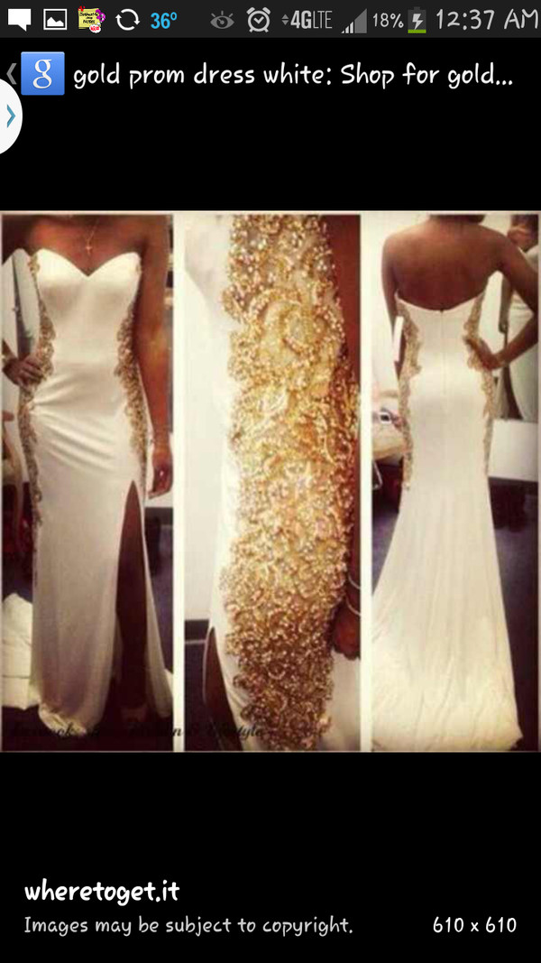 dress prom dress formal dress long prom dress white dress urgent prom dress prom dress gold slit dress