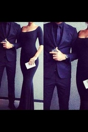 dress,black,long,elegant,long dress,classy,navy,black dress,evening dress,sexy,midnight blue,black gown,clothes,women,wedding,prom,menswear,watch,fashion,luxury,couple,prom dress,purple dress,envelope clutch,shirt,cute long black dress