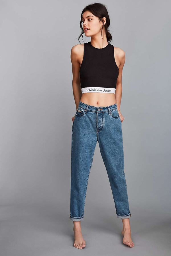 Calvin Klein For Uo High Neck Tank Top Urban Outfitters