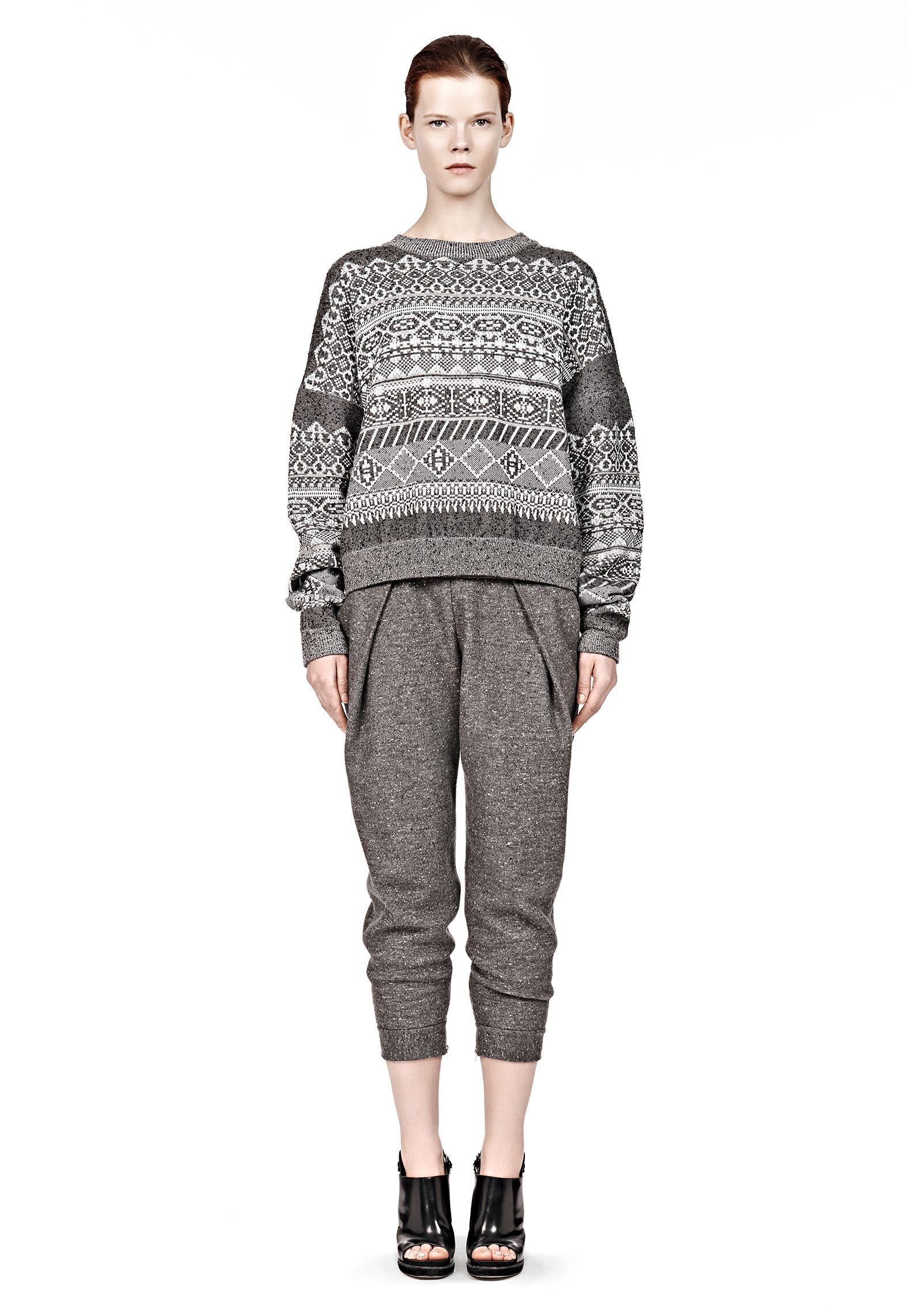 FAIR ISLE SWEATSHIRT - Tops Women - Alexander Wang Online Store