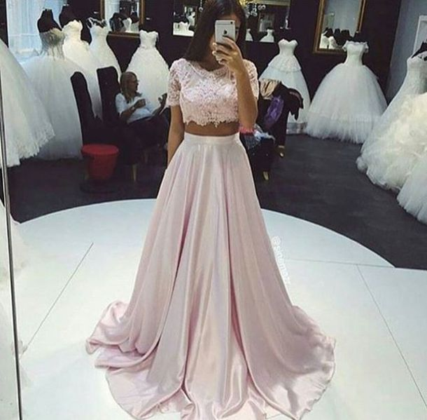 Dress Prom Wedding Dressy Pink Two Piece Set Orchid