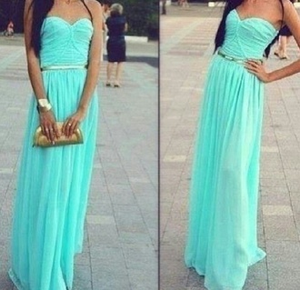 dress prom dress mint tiffany aqua fancy torqouise torquise