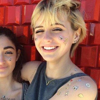 jewels temporary tattoo summer accessories emoji print pizza heart bff funny smiley