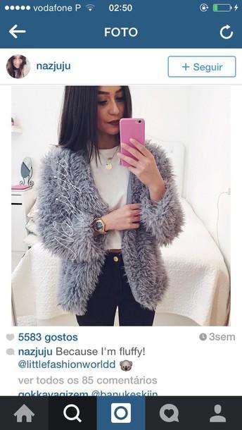 cardigan fashion faux fur jacket jacket