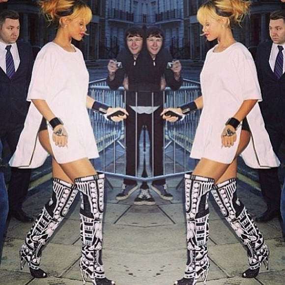 designer shoes rihanna rih rih rih tom ford boots aztec aztec boots tomford little black dress