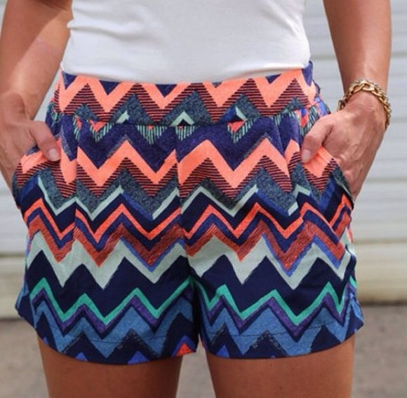 colourful shorts