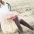 Lace Boot Cuffs Red Socks Topper Women Faux Leg Warmers Knee High Accessory Shoe Bridal Wedding