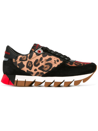 women sneakers leather print leopard print shoes