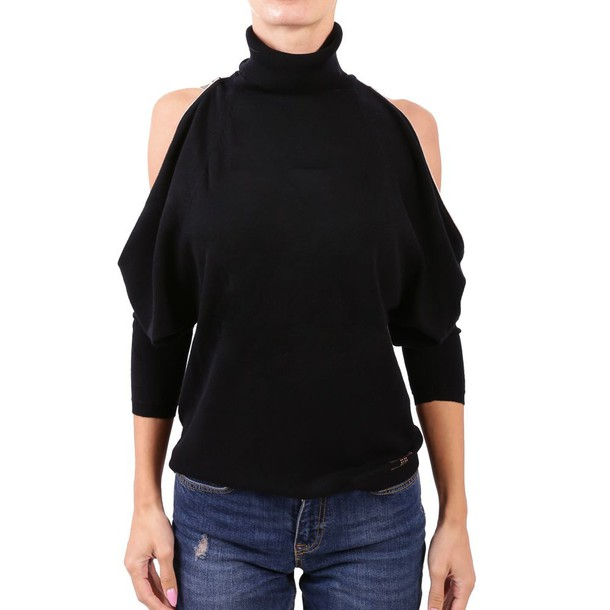 Elisabetta Franchi Celyn B. sweater turtleneck turtleneck sweater black