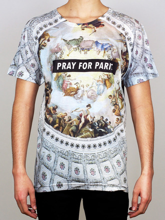 t-shirt pray for paris menswear