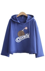 sweater,oh no,oreo,dark blue,aesthetic,sweatshirt,hoodie