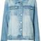 Anine bing - vintage wash denim jacket - women - cotton - m, blue, cotton