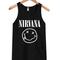 Nirvana smile unisex adult tanktop - stylecotton