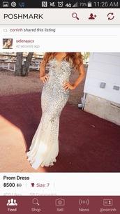 dress,silver sequin dress,sliver,prom dress,long prom dress,white dress,white prom dress,straps,sequin dress,sequin prom dress