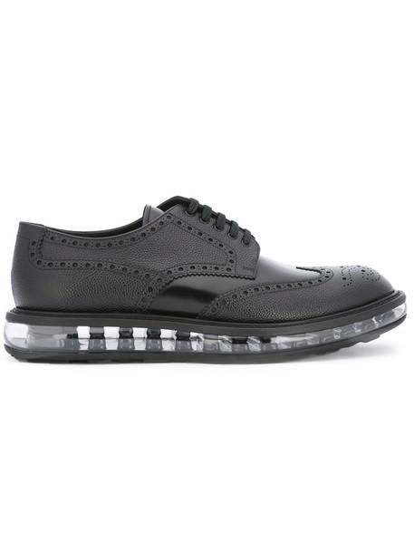 transparent women leather black shoes