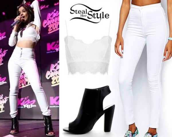 blouse camila cabello Fifth Harmony all white everything