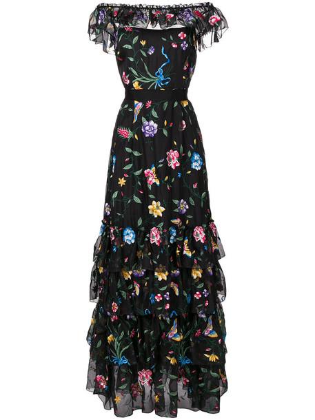 Goat dress embroidered dress embroidered women black silk