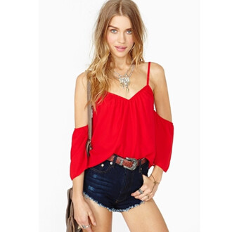 blouse top chiffon blouse off shoulder top red shirt vneck top casual tops off the shoulder speghetti strap summer outfits summer shirts