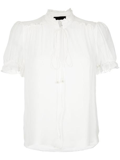 Nk blouse women white silk top