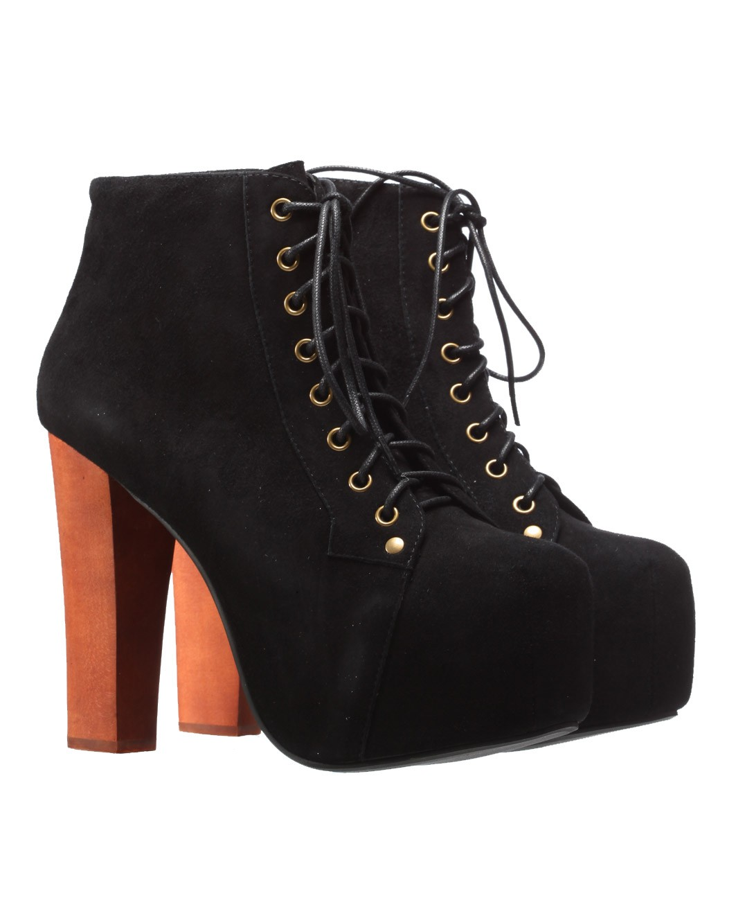 jeffrey campbell lita high heel platform suede boot black. Black Bedroom Furniture Sets. Home Design Ideas