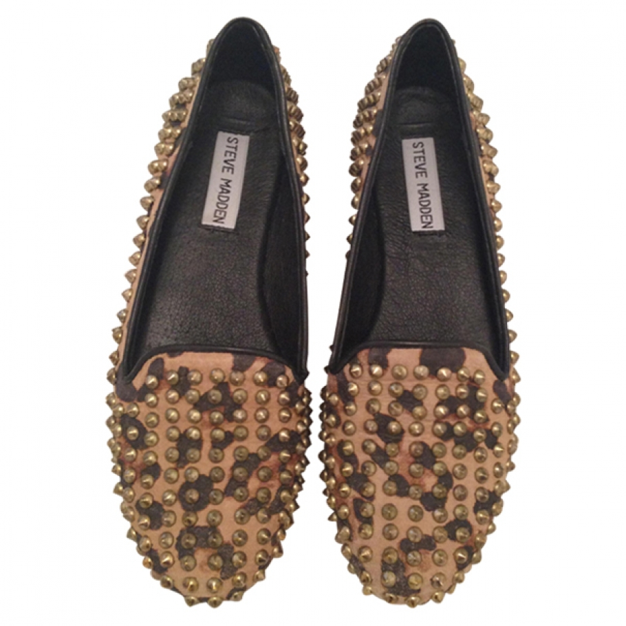 Studded leopard print loafers STEVE MADDEN Leopard print size 7.5 US in Other All seasons - 566965
