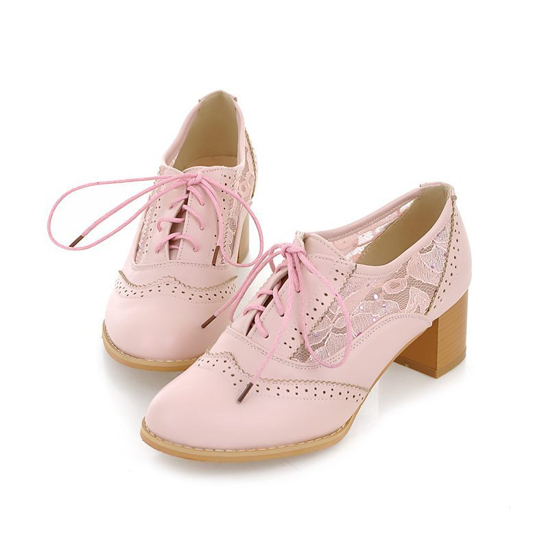 out New 2015 Spring summer Ladies shoes Mid heels Oxford shoes for ...