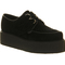 Underground double sole creeper black suede - flats