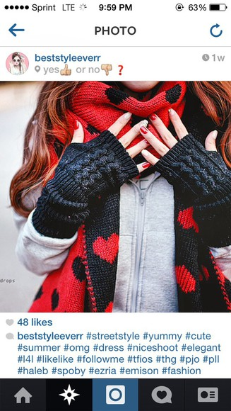 soft scarf gloves print cold warm