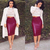 Faux Leather Cutout Skirt Burgundy