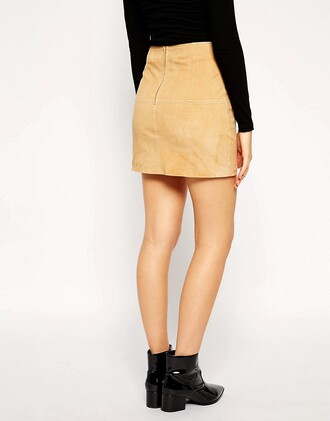 skirt suede mini skirt suede mini skirt beige