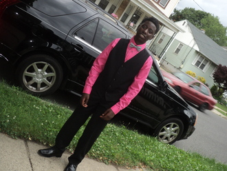 jacket bow tie pink shirt black vest black pants black shoes pants vest shoe shoes dress shoes black dress shoes black bow tie white bow tie designed designed bow tie cadilla cadillac grass teen menswear dressy evening wear social prom pink shirts prom menswear