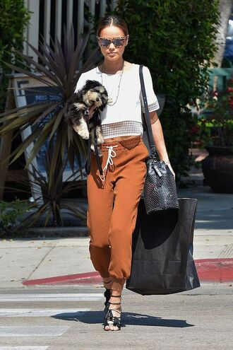 pants sandals top jamie chung spring outfits shoes