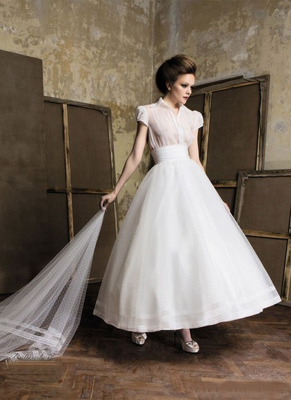dress wedding dress aline vintage wedding dress