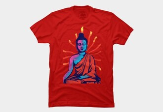 shirt clothes t-shirt peace om yoga native american aum gautam buddha designer motivational t shirt