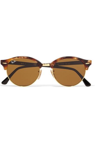 Ray-Ban - Clubround Acetate And Gold-tone Sunglasses - Tortoiseshell
