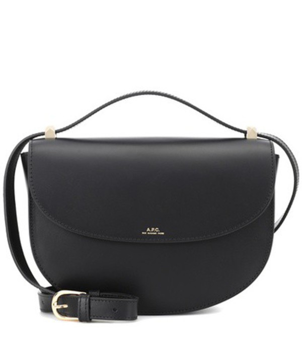 A.P.C. Genève leather shoulder bag in black