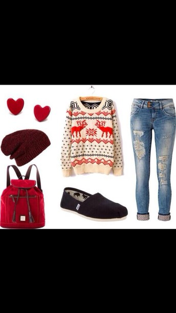 jeans cuff jeans ripped jeans polka dots holiday season super cute