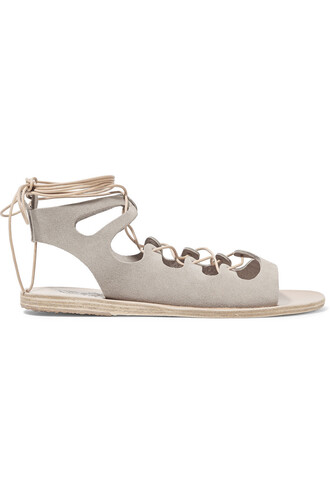 sandals lace suede shoes