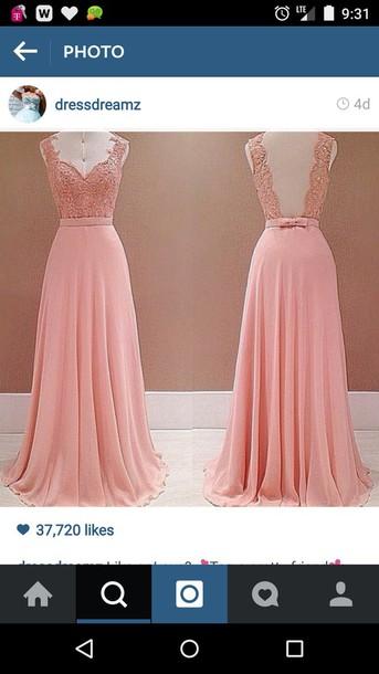 dress rose colour lace top long dress bridesmaid