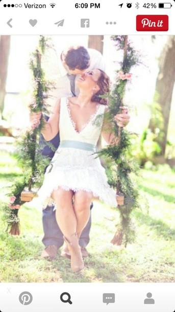dress wedding dress country wedding country dress rustic white dress lace dress