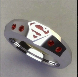 jewels superman ring wedding marvel superheroes superheroes