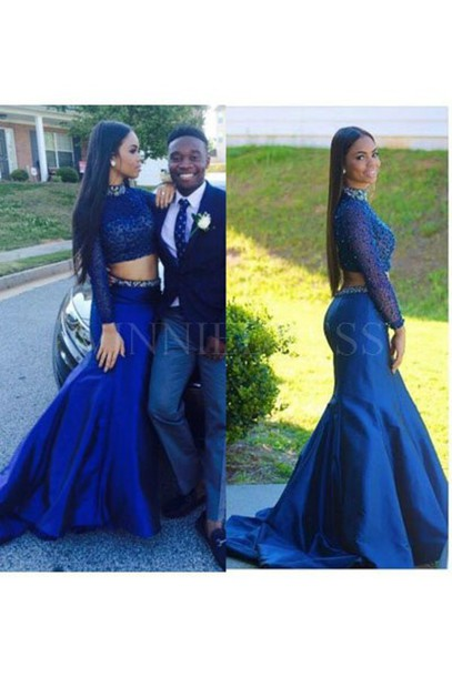 91c991e998de0 dress two-piece two piece prom dresses 2 piece prom dresses royal blue prom  dresses