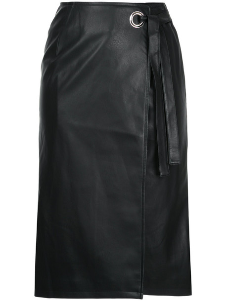 Cityshop skirt wrap skirt women leather black
