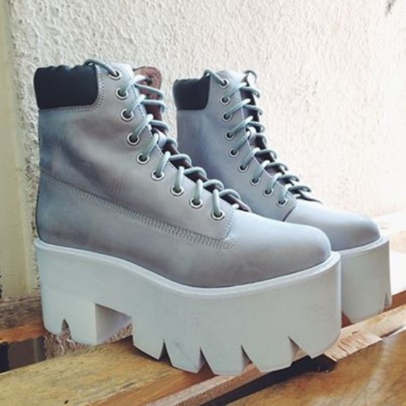 boots grey boots shoes jeffrey campbell timberlands envishoes