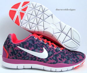 NIKE FREE TR FIT 3 PRINT 9 ATOMIC PINK BLACK LEOPARD CHEETAH 4.0 3.0 5.0 db
